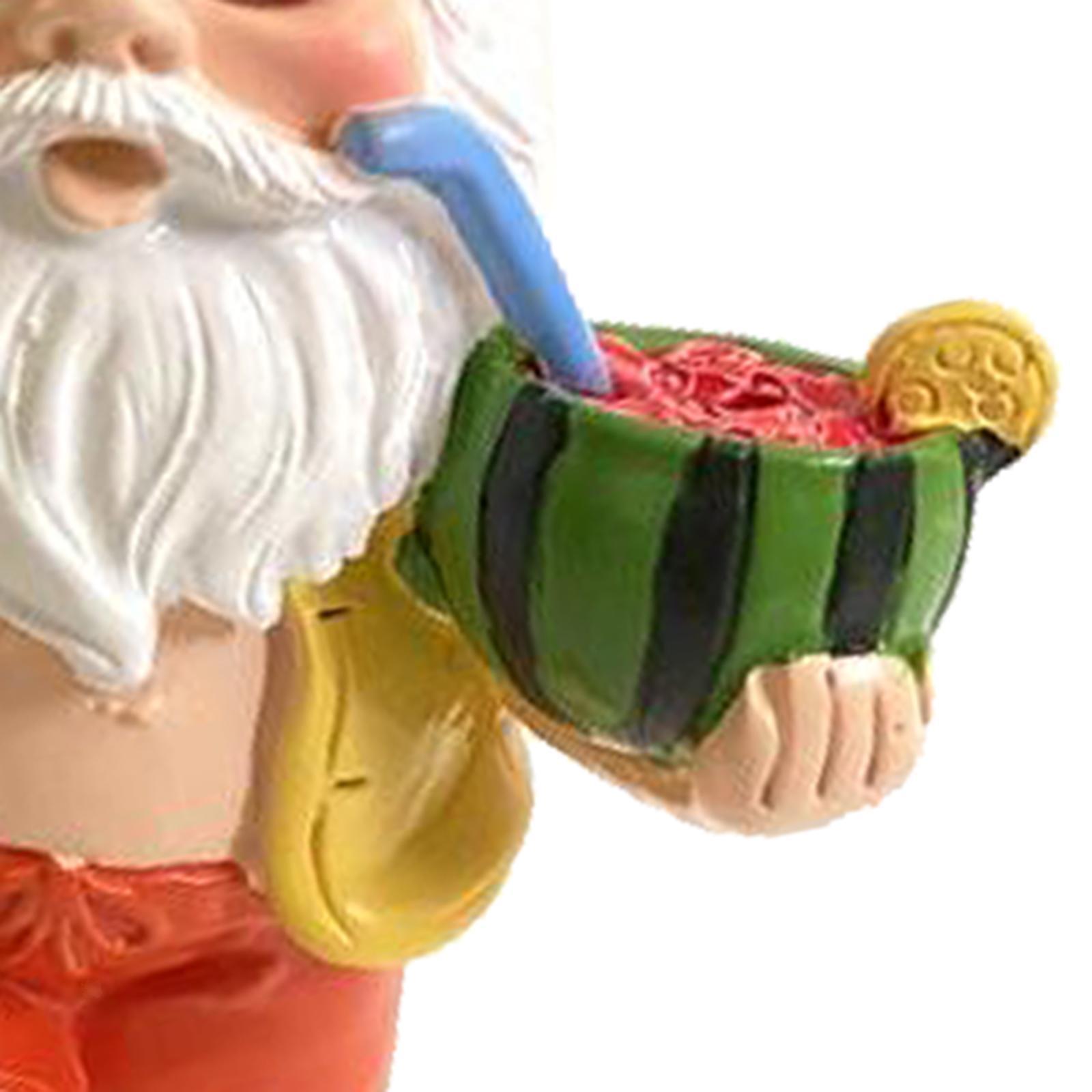thumbnail 13 - Garden Gnome Polyresin Garden Sculpture Outdoor/Indoor Decor Funny Lawn Figurine