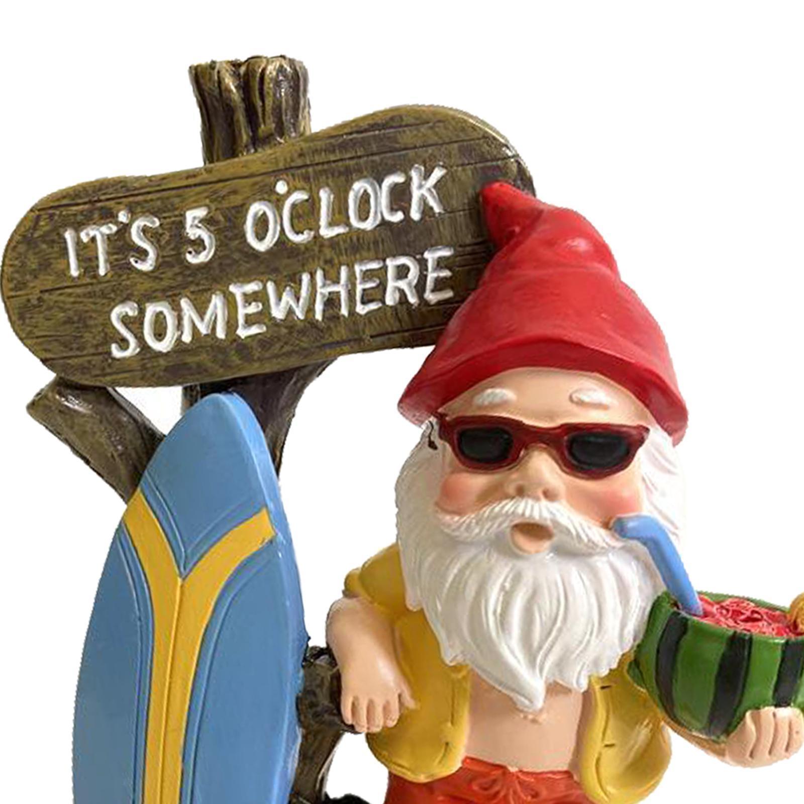 thumbnail 13 - Funny Resin Naughty Garden Gnome Statue Ornaments Villa Home Figurines Decor AU