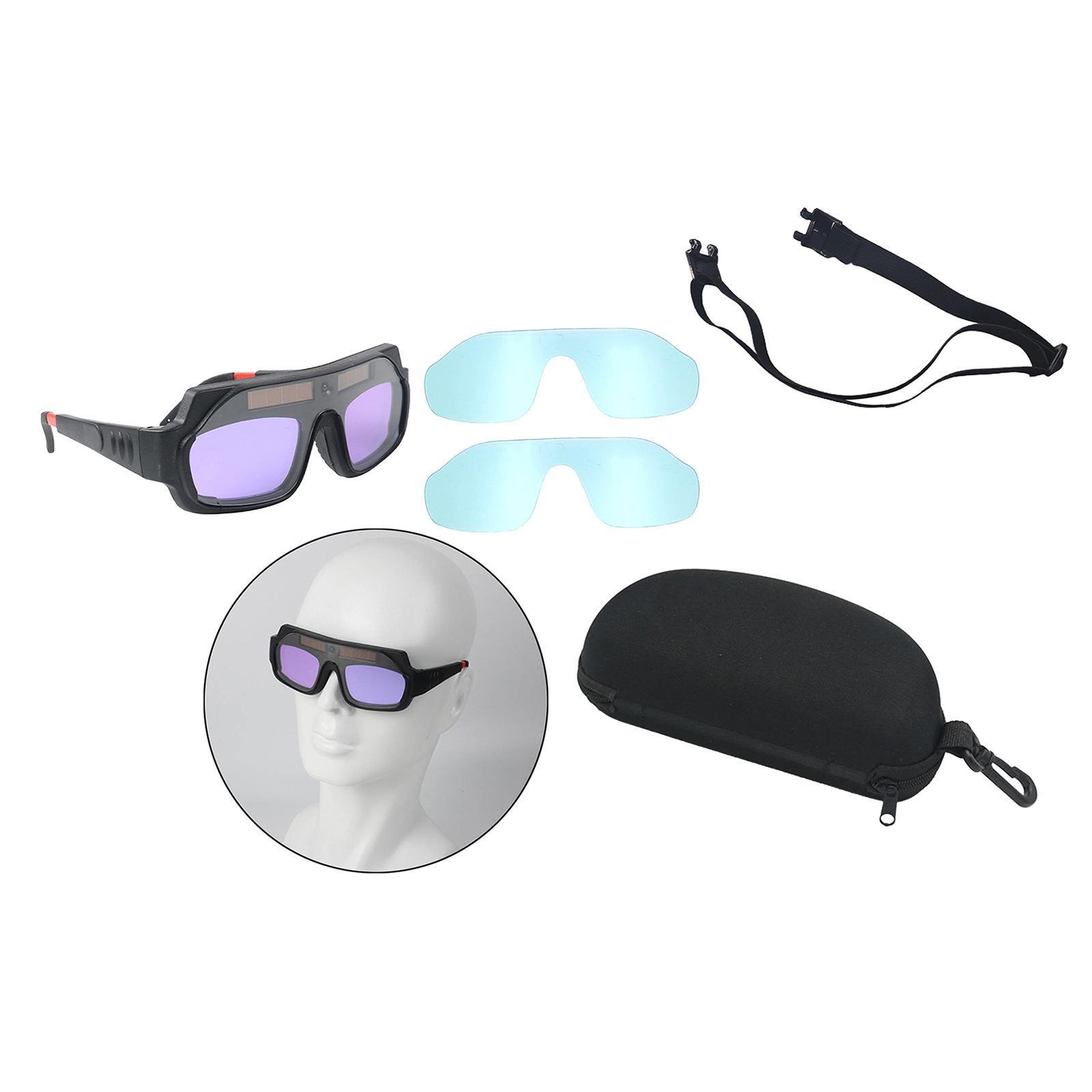 Solar Auto Darkening Welding Mask Welder Goggle Mask for Brazing Cutting Accs