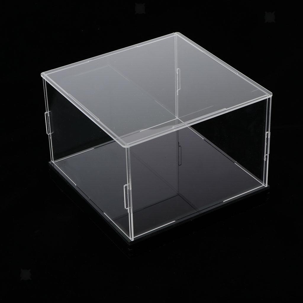 Clear Acrylic Display Box Large Dustproof Protection Toy Doll Car Show Case
