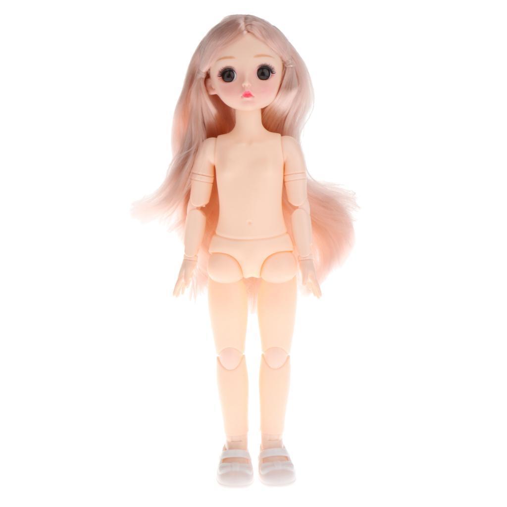 1-6-BJD-Doll-Body-3D-Big-Eyes-White-Skin-Girl-Dolls-Kids-Toys-DIY-Parts thumbnail 23