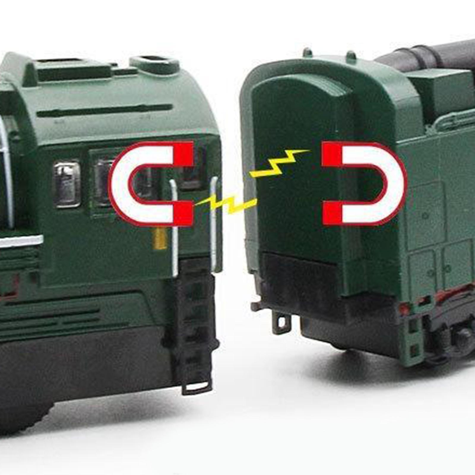 miniature 9 - Train à vapeur jouet Diecast Locomotive reculer le son lumière modèle de voit