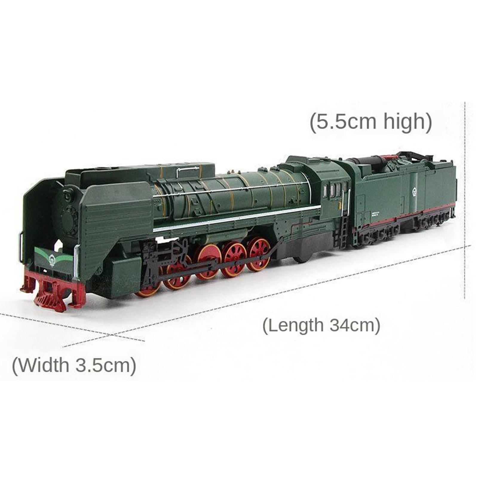 miniature 10 - Train à vapeur jouet Diecast Locomotive reculer le son lumière modèle de voit