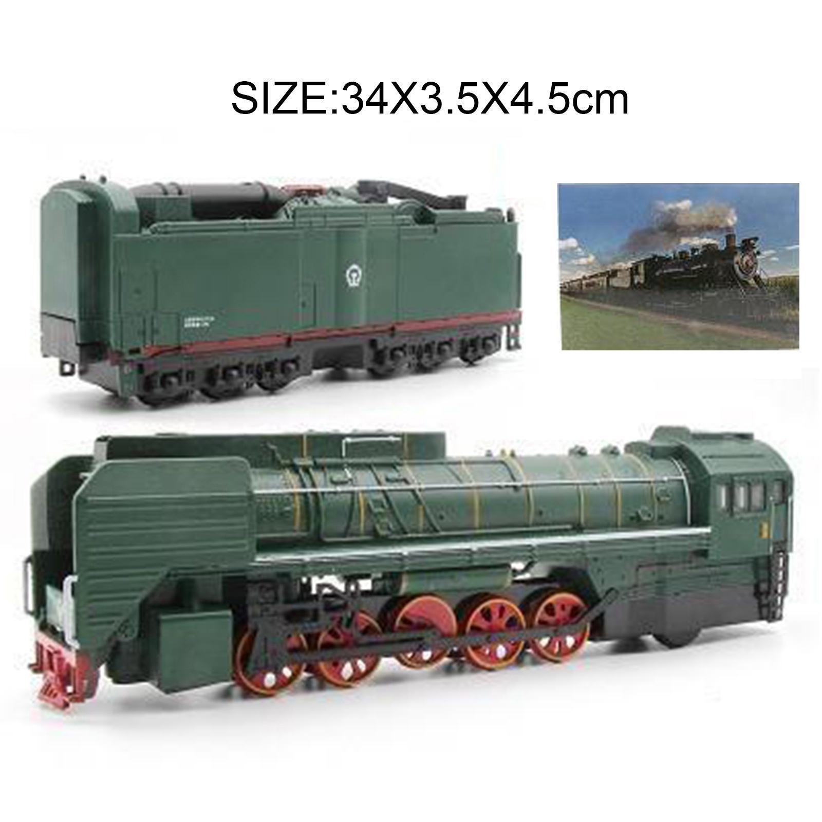 miniature 11 - Train à vapeur jouet Diecast Locomotive reculer le son lumière modèle de voit