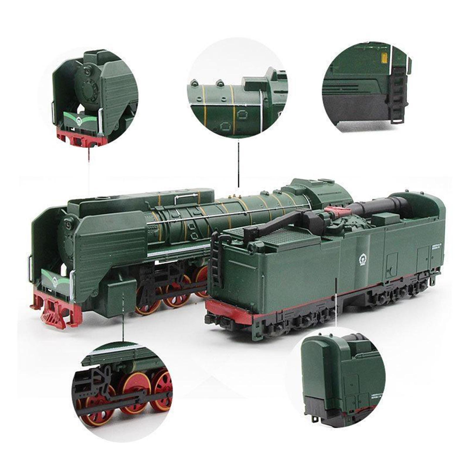 miniature 12 - Train à vapeur jouet Diecast Locomotive reculer le son lumière modèle de voit