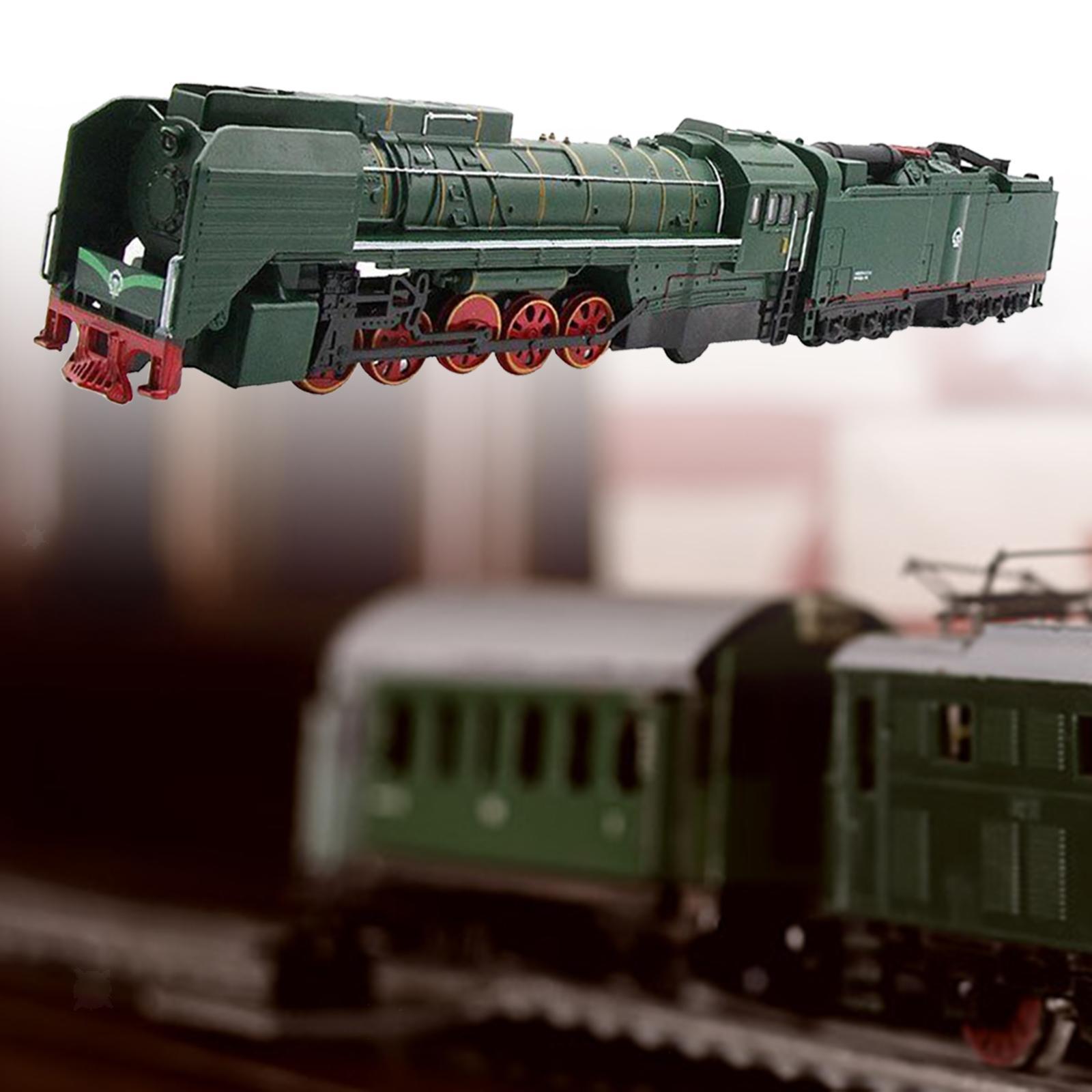 miniature 4 - Train à vapeur jouet Diecast Locomotive reculer le son lumière modèle de voit
