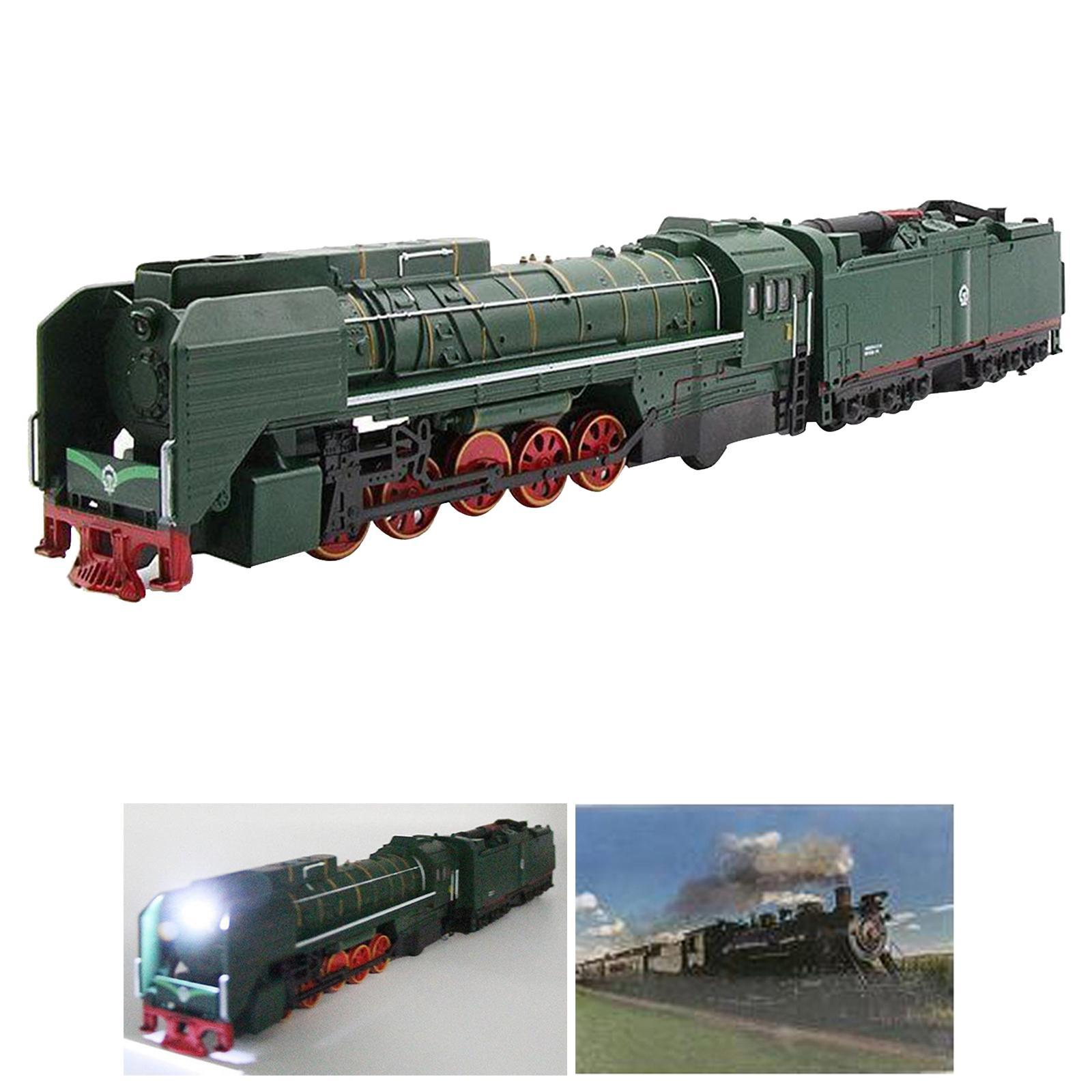 miniature 5 - Train à vapeur jouet Diecast Locomotive reculer le son lumière modèle de voit