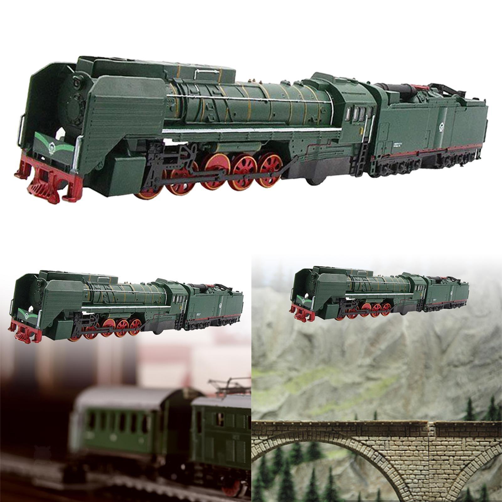 miniature 6 - Train à vapeur jouet Diecast Locomotive reculer le son lumière modèle de voit