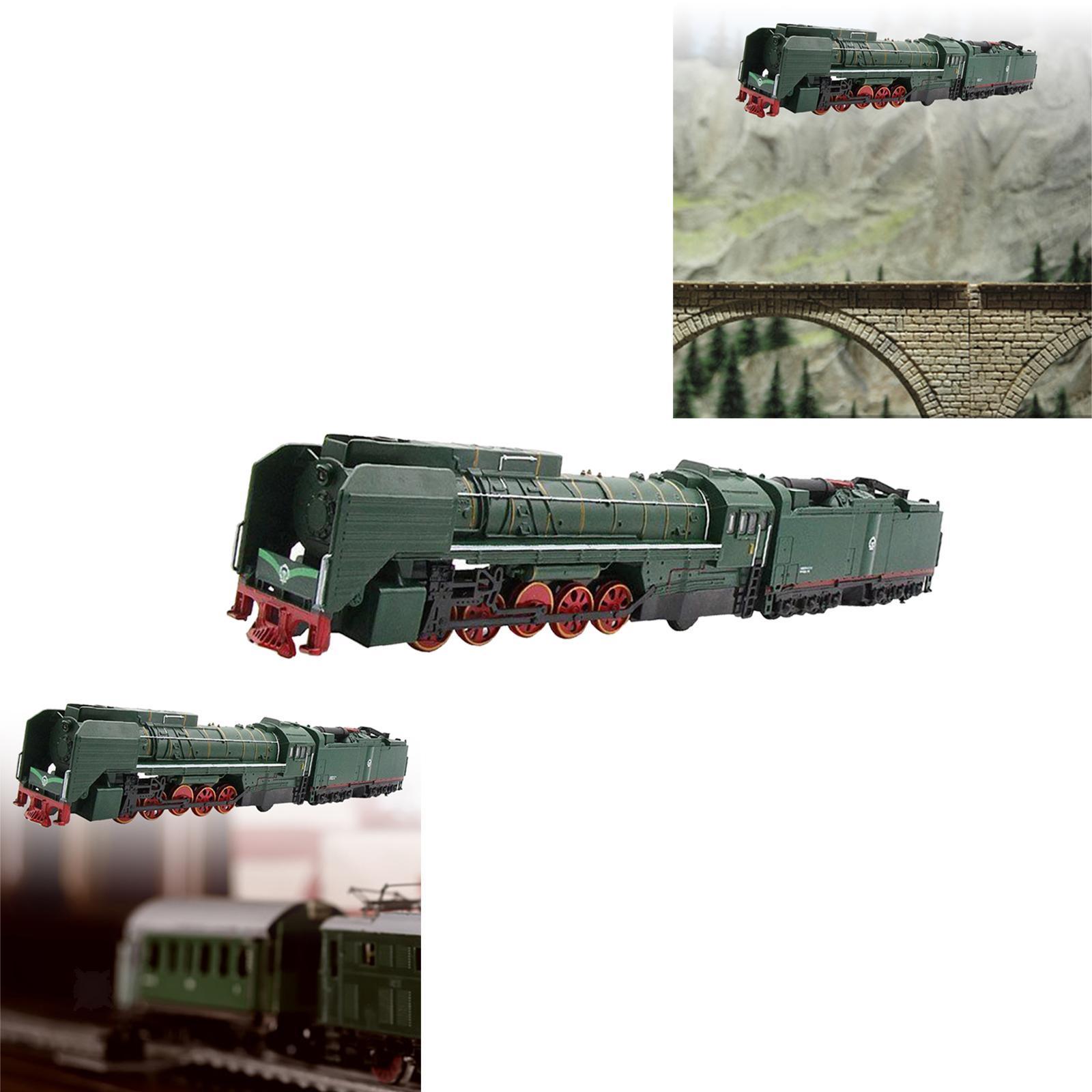 miniature 7 - Train à vapeur jouet Diecast Locomotive reculer le son lumière modèle de voit