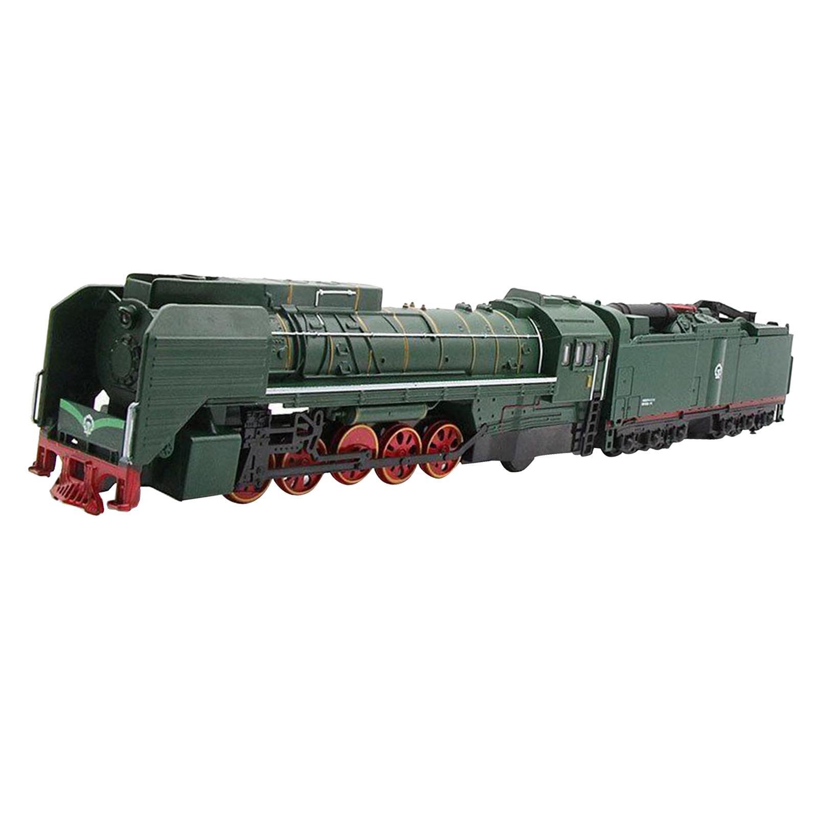 miniature 8 - Train à vapeur jouet Diecast Locomotive reculer le son lumière modèle de voit