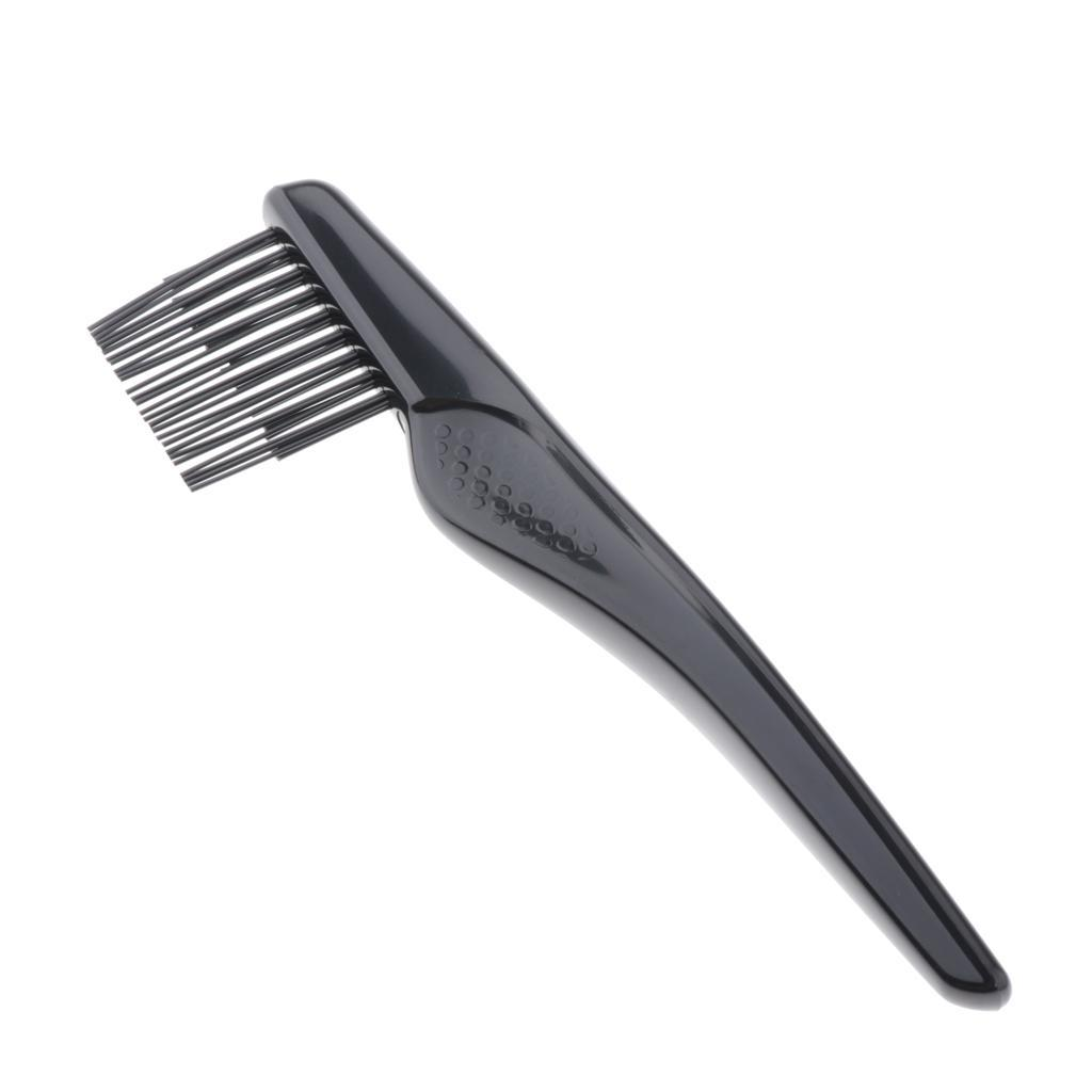 Black-Plastic-Durable-Brush-Comb-Cleaner-Portable-Hair-Dust-Remover-for-Home thumbnail 3