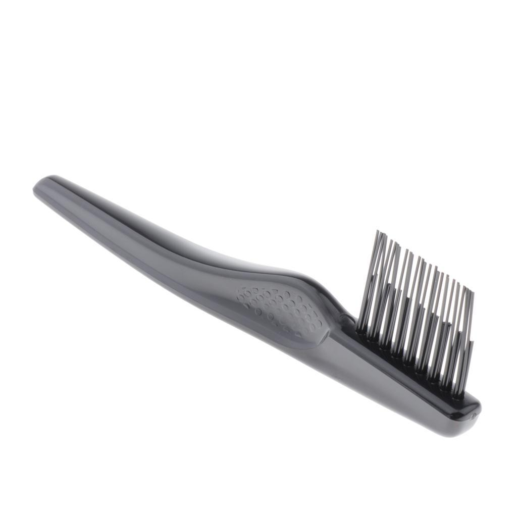 Black-Plastic-Durable-Brush-Comb-Cleaner-Portable-Hair-Dust-Remover-for-Home thumbnail 4