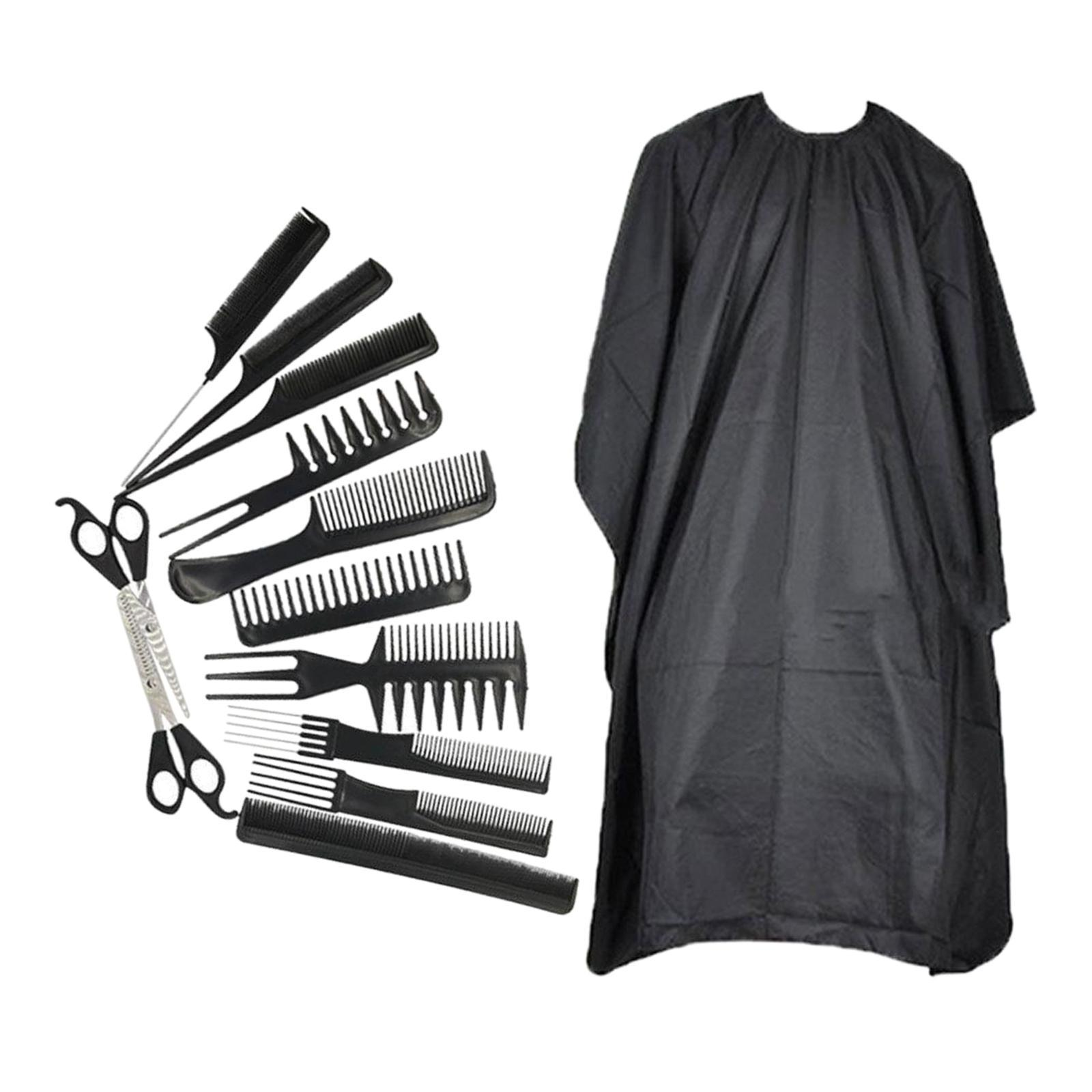 miniatura 30 - Parrucchiere barbiere spazzola per capelli pettine Set strumenti taglio capelli