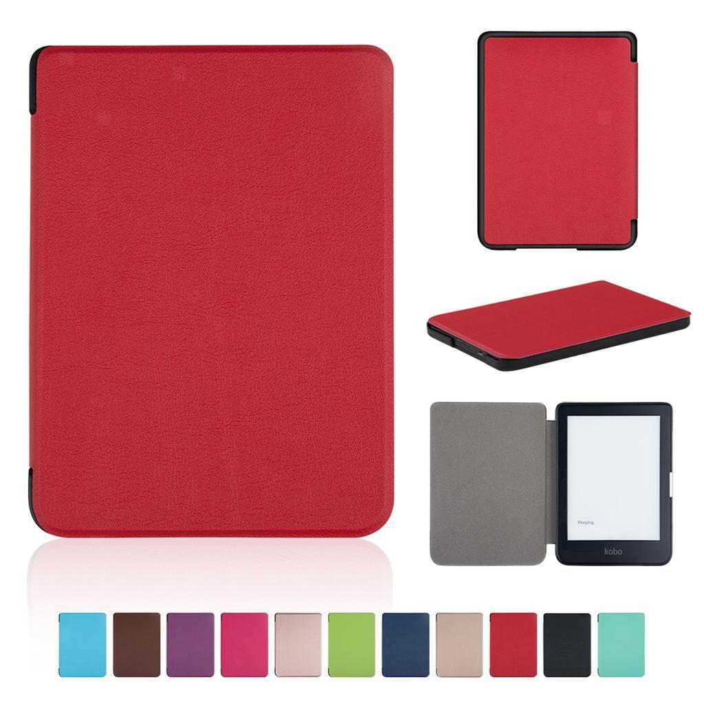 miniature 7 - Etui-pour-Kobo-Clara-HD-Ultra-Mince-Smart-PU-etui-en-Cuir-Stand-Housse-Coque