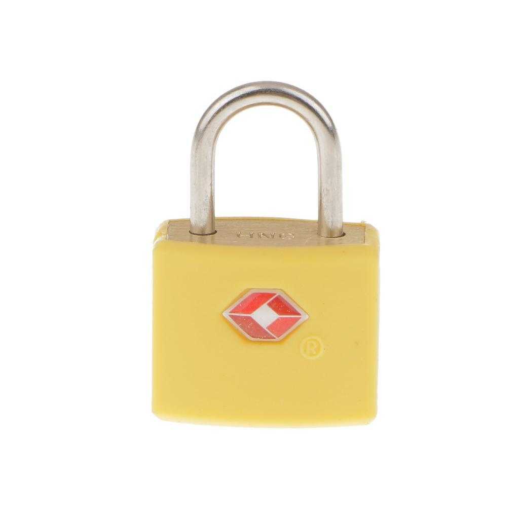 miniatura 10 - Lucchetto in metallo resistente Borsa da viaggio per valigia con chiave di