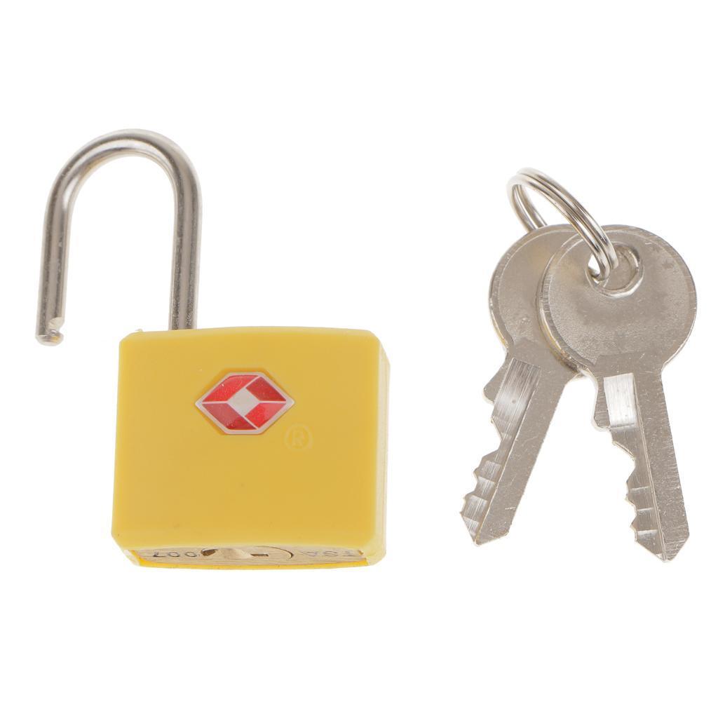 miniatura 9 - Lucchetto in metallo resistente Borsa da viaggio per valigia con chiave di