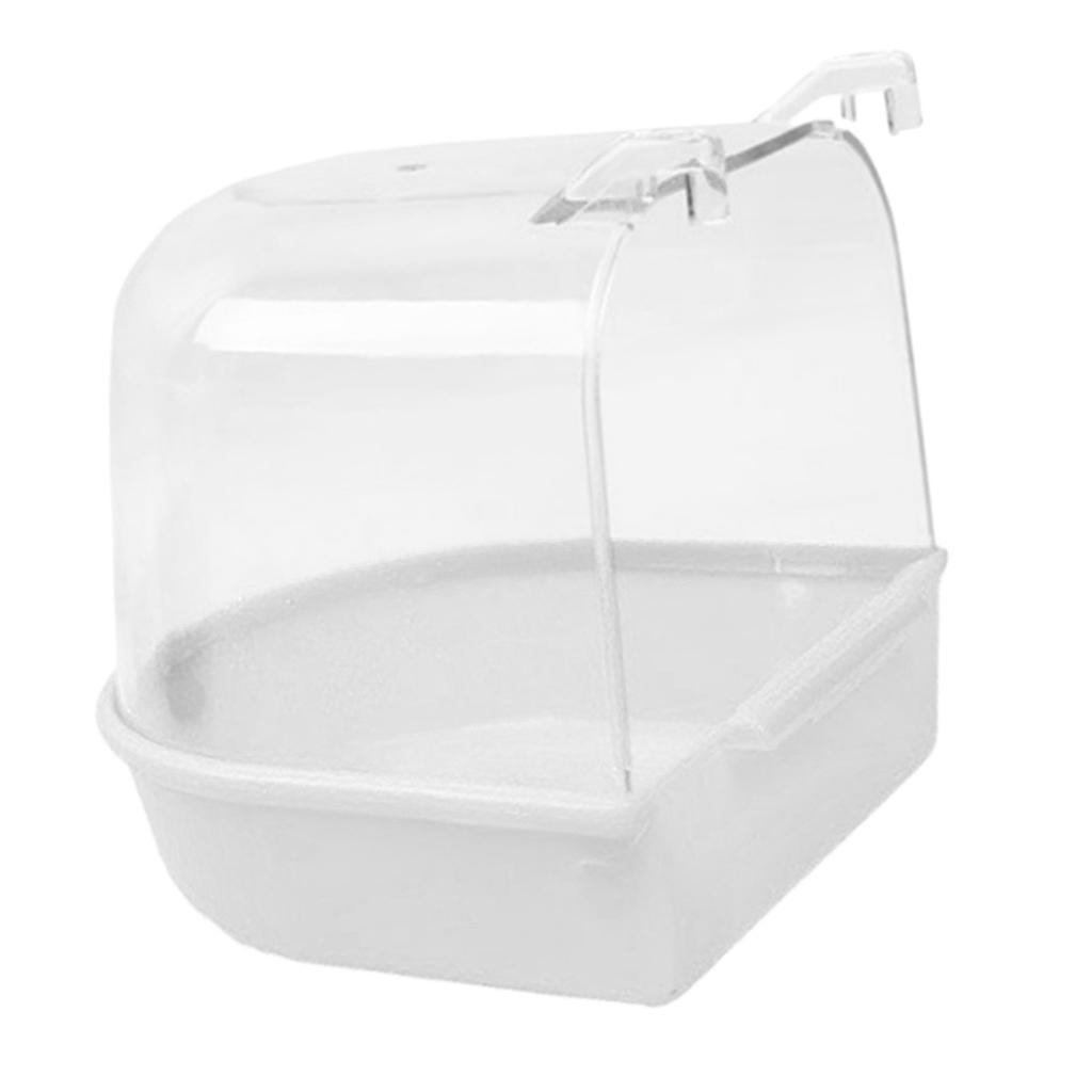 Bird Parrot Pet Water Bath Tub Cage Accessory Supplies