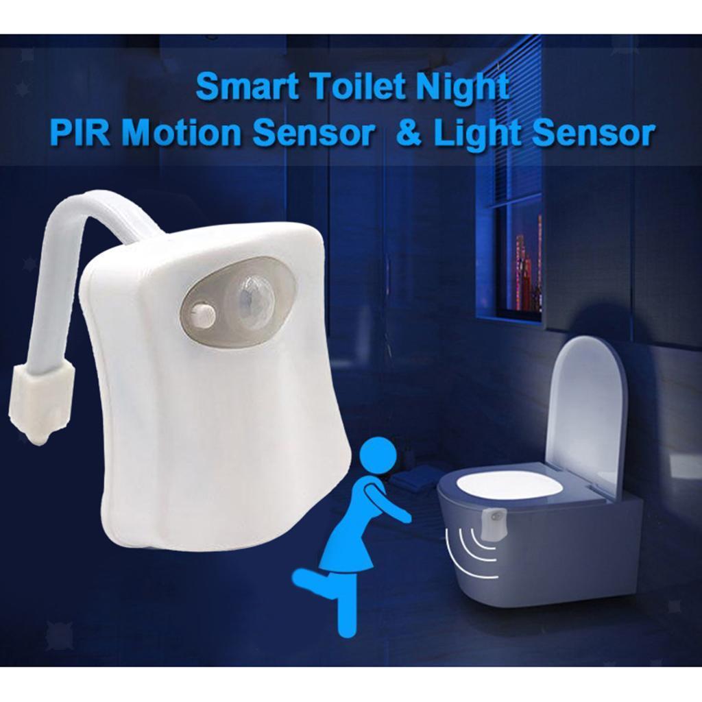 WC-Ciotola-di-Luce-di-Notte-Retroilluminazione-A-LED-Intelligente-di-Movimento miniatura 7