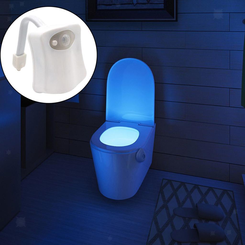 WC-Ciotola-di-Luce-di-Notte-Retroilluminazione-A-LED-Smart-Sensori-di-Movimento miniatura 4