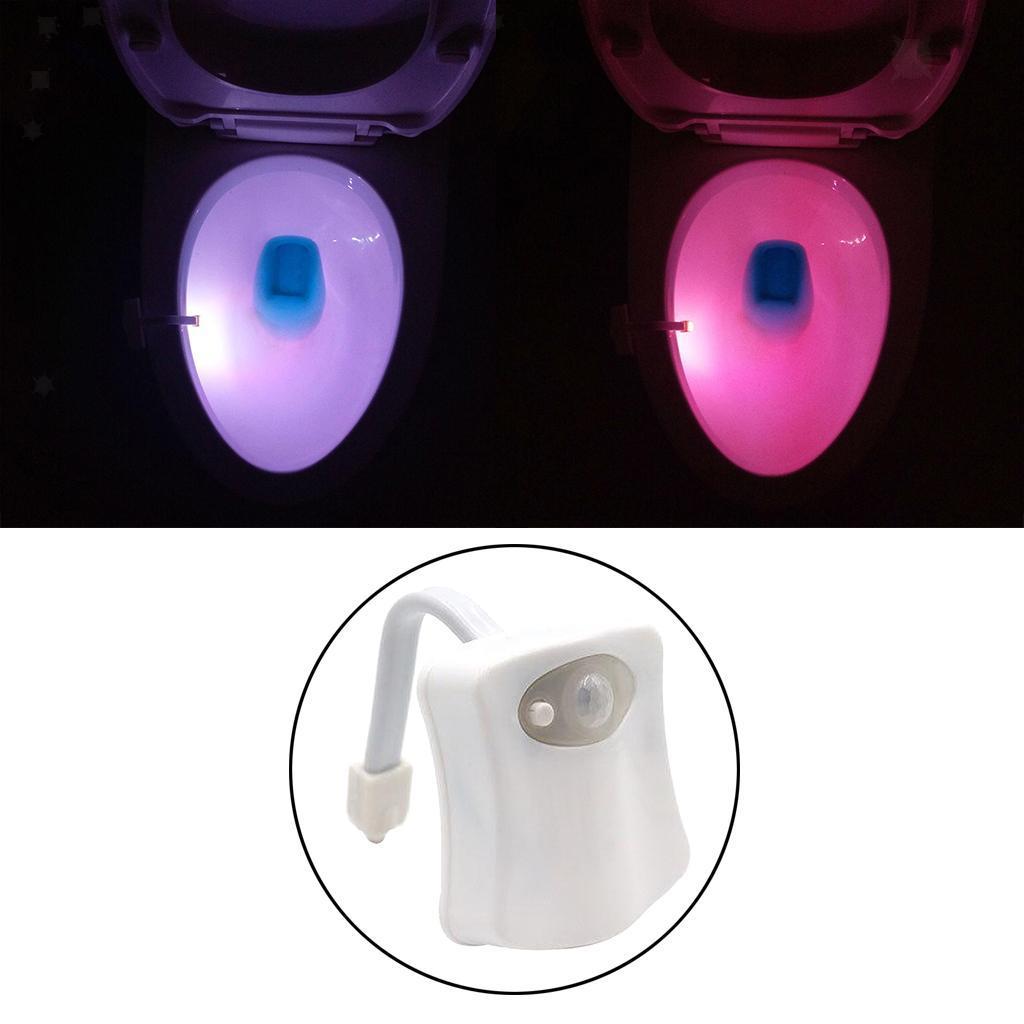 WC-Ciotola-di-Luce-di-Notte-Retroilluminazione-A-LED-Smart-Sensori-di-Movimento miniatura 5