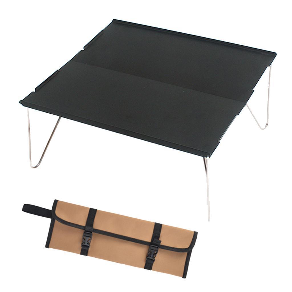 miniatura 12 - Piccolo tavolo da campeggio pieghevole leggero barbecue per roulotte da picnic