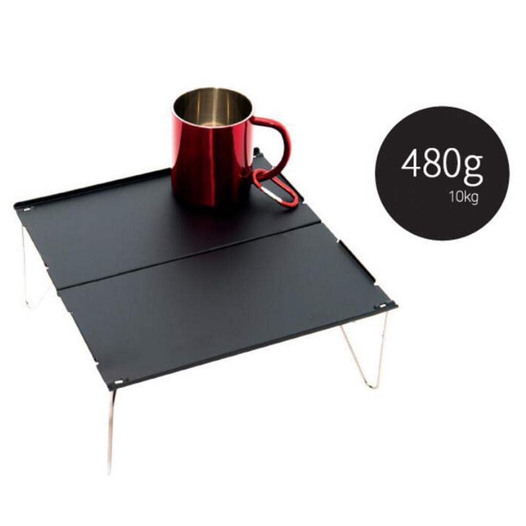 miniatura 13 - Piccolo tavolo da campeggio pieghevole leggero barbecue per roulotte da picnic