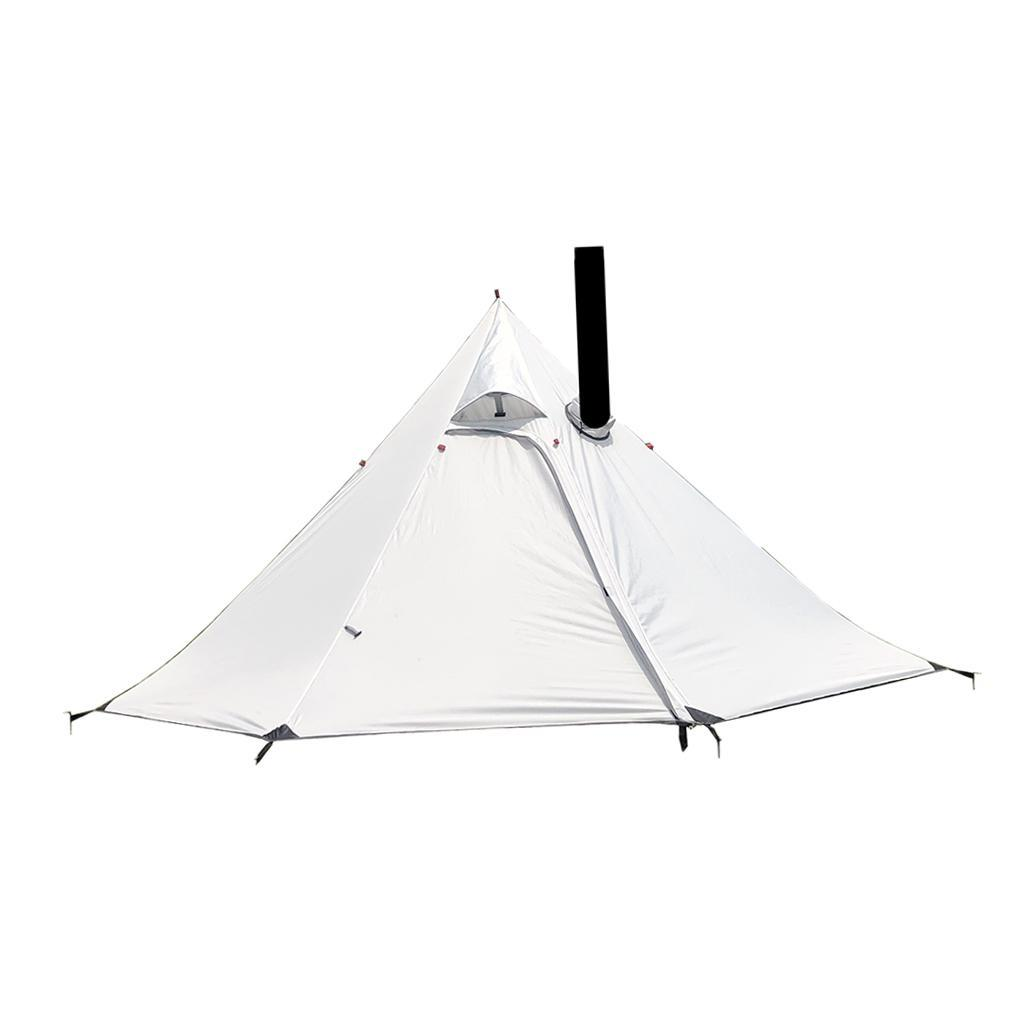 Outdoor Pyramid Tent Sun Shade Shelter With Stovepipe Hole