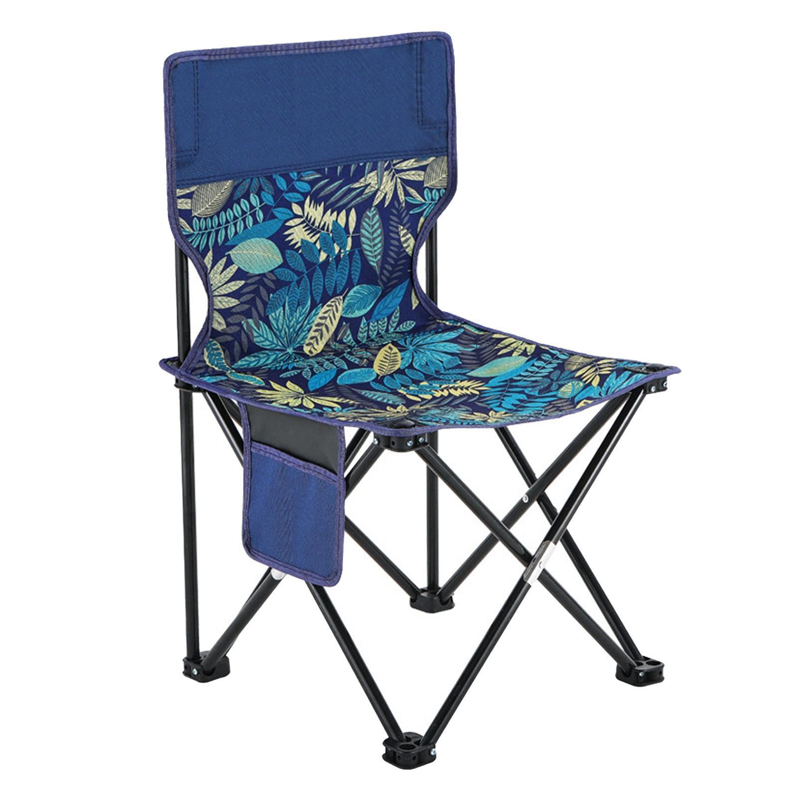 miniatura 7 - Sedia-da-campeggio-pieghevole-Sedia-da-spiaggia-Sgabello-da-pesca-Picnic-Outdoor