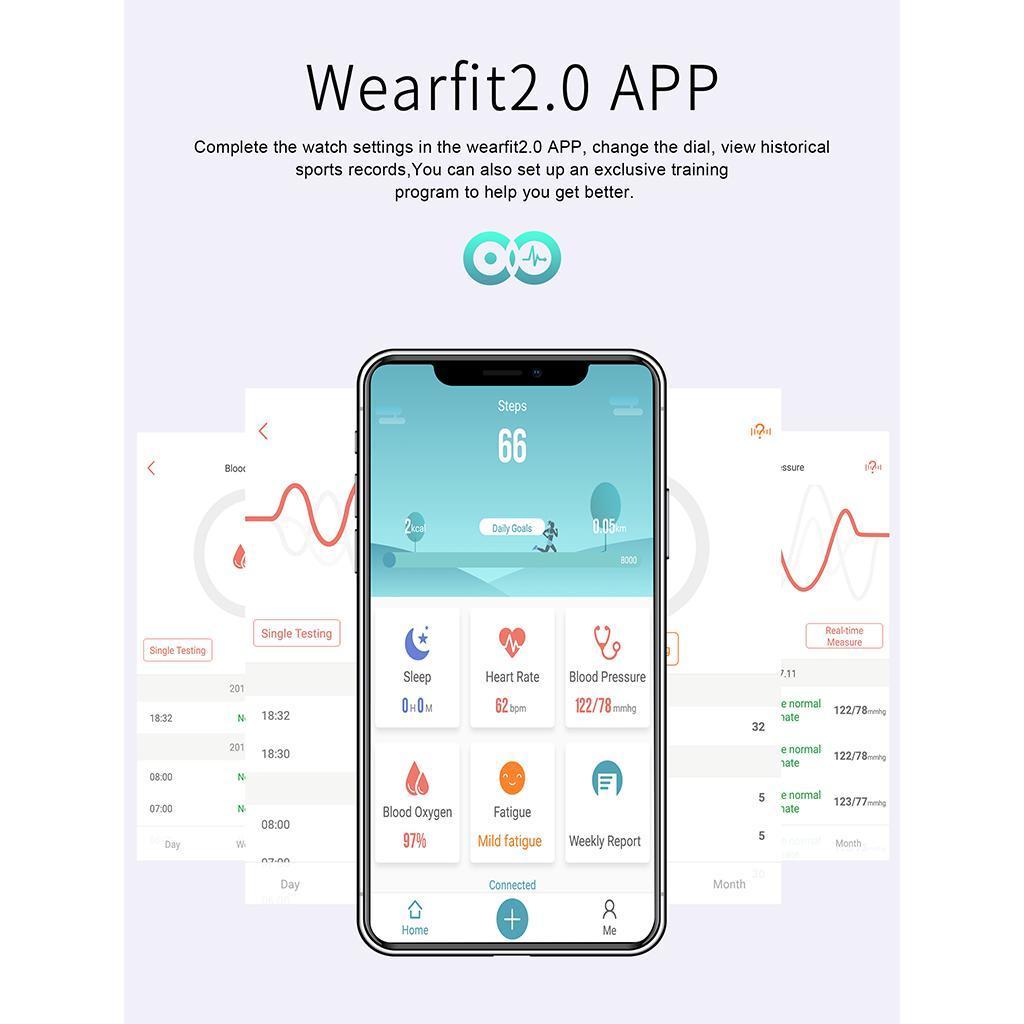 Indexbild 7 - Smartwatch Sportuhr mit Herzfrequenz Blutsauerstoffüberwachung Schlafmonitor
