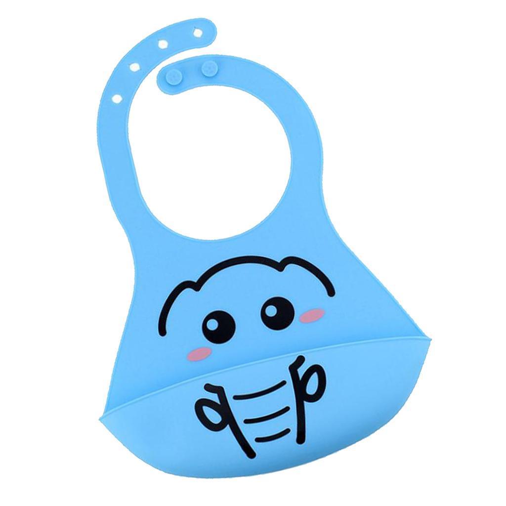 Bavoirs-de-bebe-en-silicone-impermeables-avec-poche-de-capture-de miniature 3