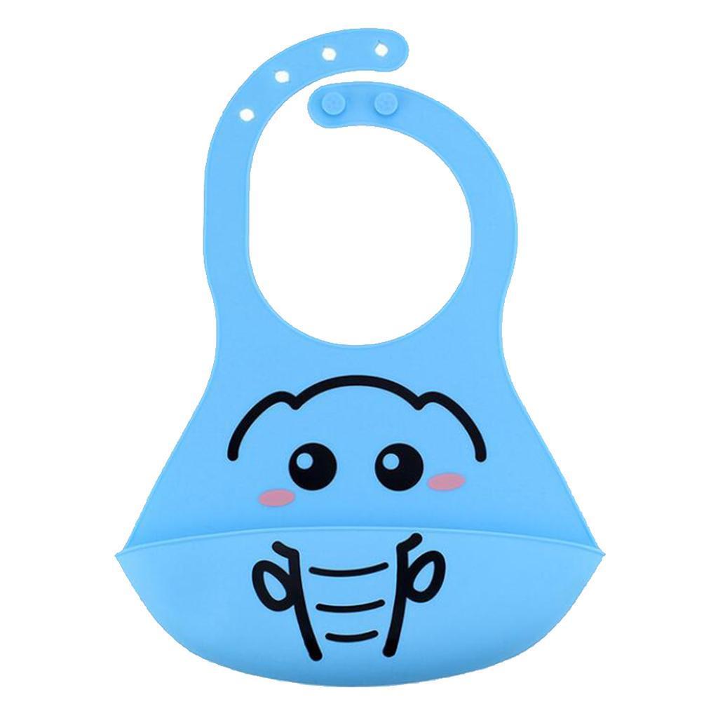Bavoirs-de-bebe-en-silicone-impermeables-avec-poche-de-capture-de miniature 4