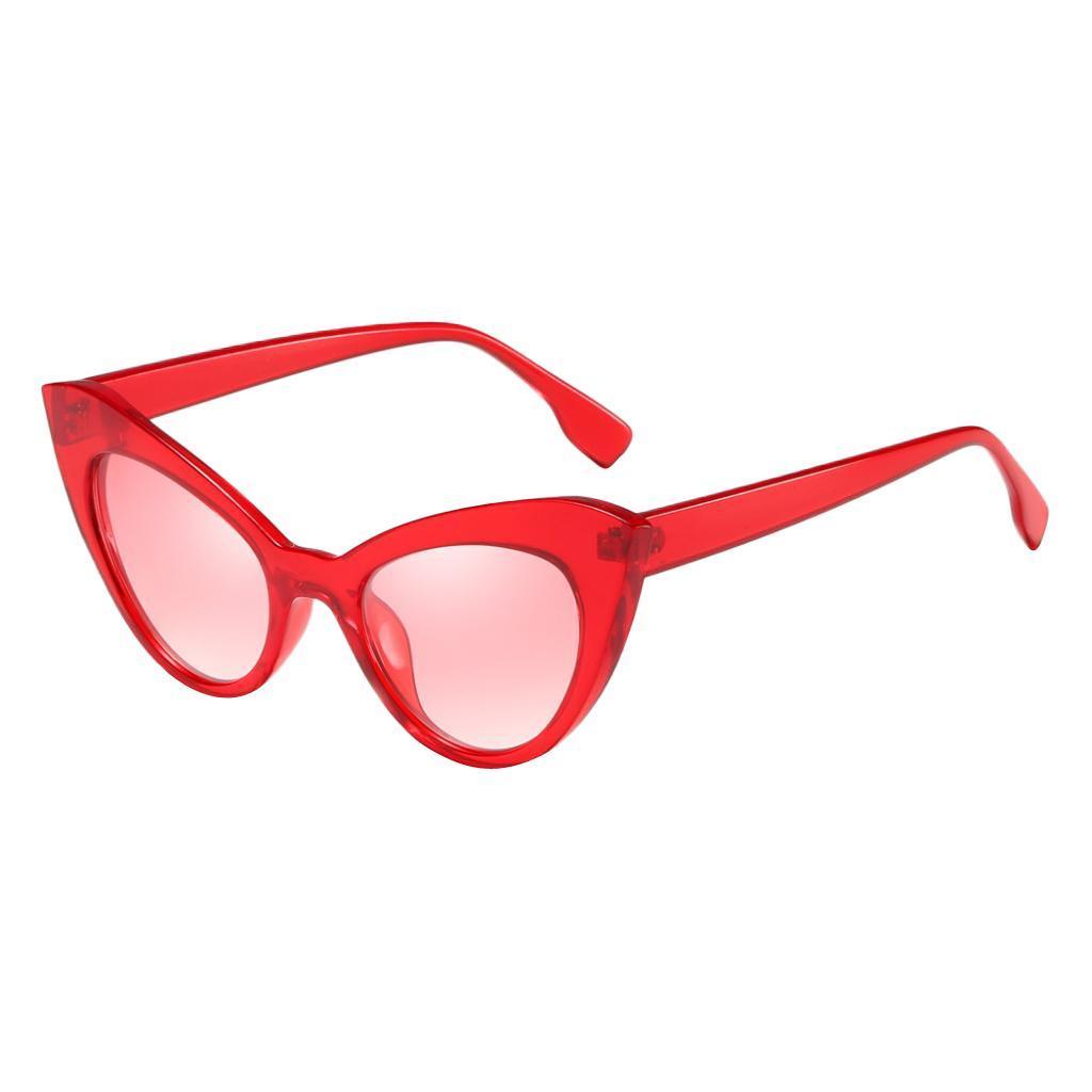 Frauen-Damen-Weinlese-Art-Katzenauge-Sonnenbrille-Plastikrahmen-UV400 Indexbild 9