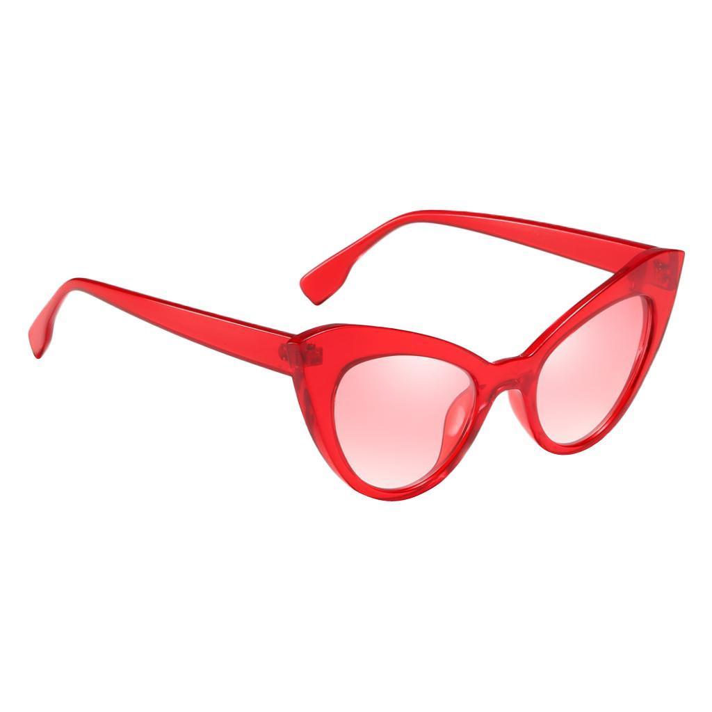 Frauen-Damen-Weinlese-Art-Katzenauge-Sonnenbrille-Plastikrahmen-UV400 Indexbild 10