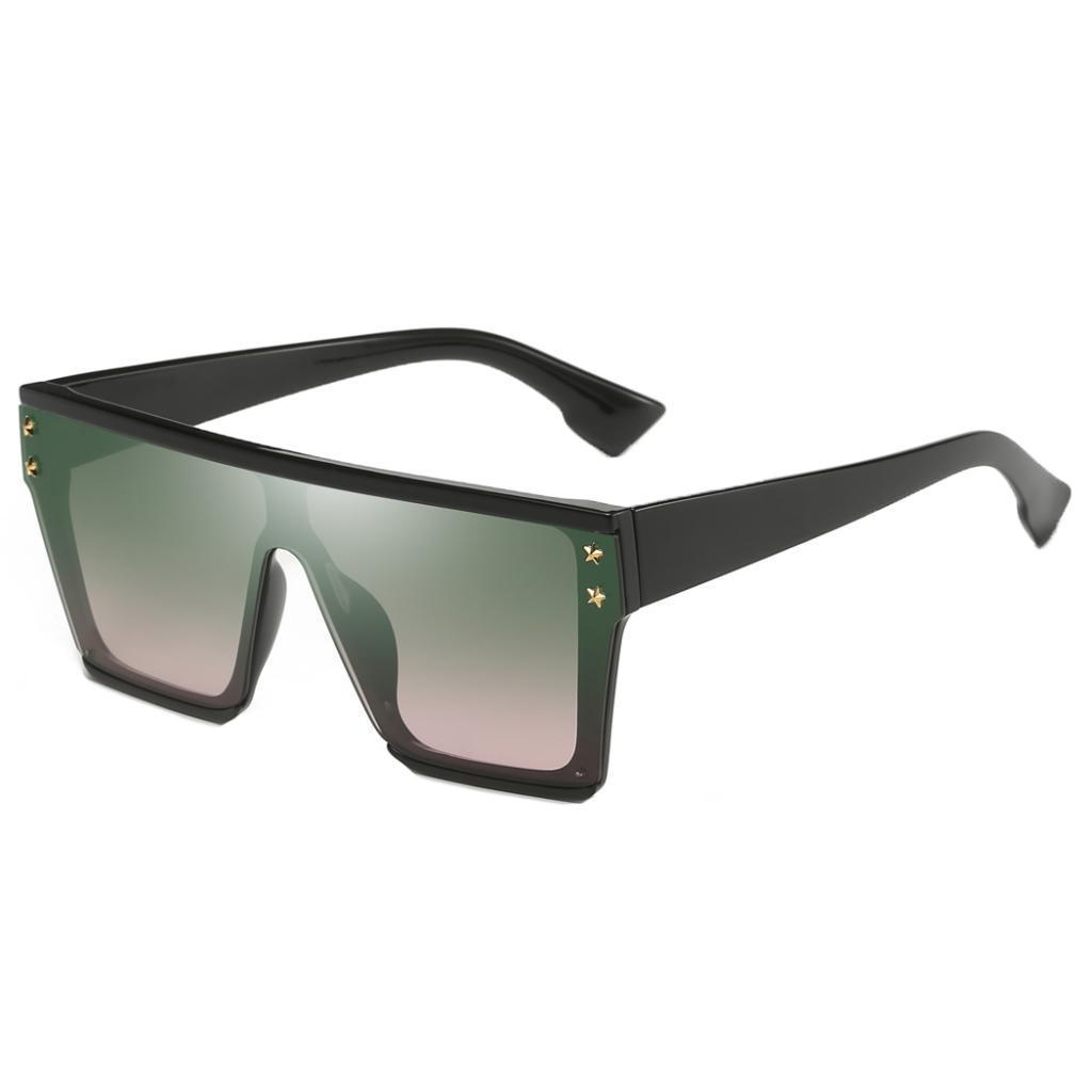 Square-Oversize-Sonnenbrillen-Fashion-Flat-Top-UV400-Sonnenbrille-fuer Indexbild 9