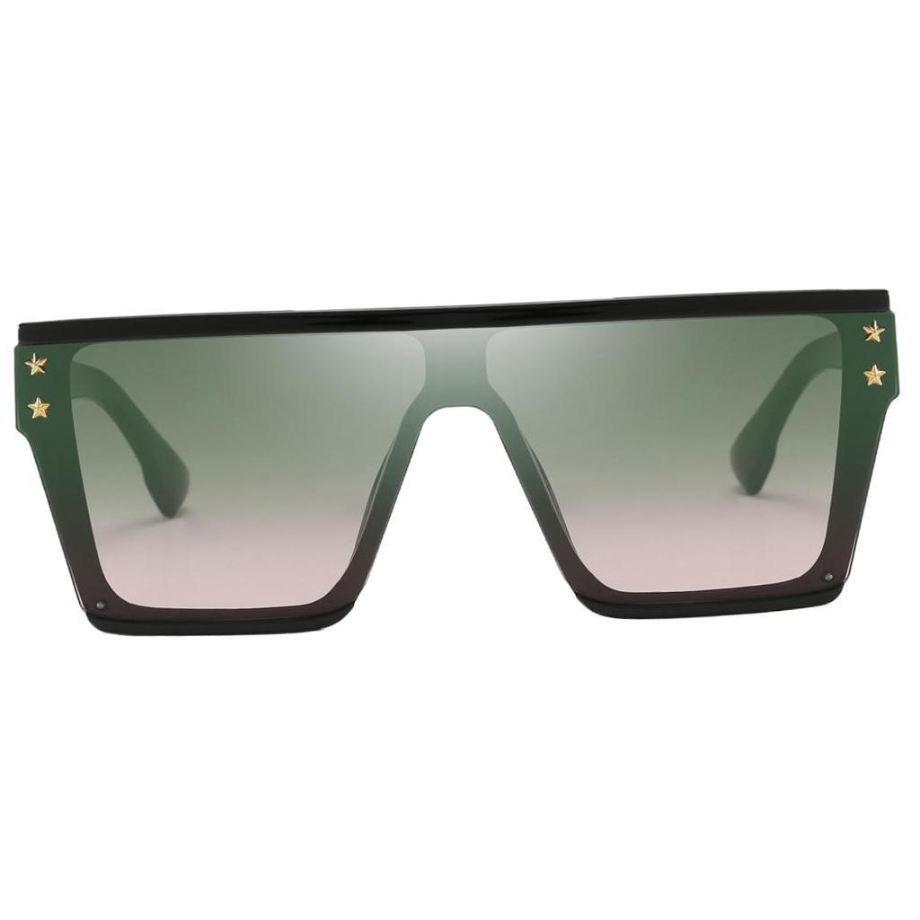 Square-Oversize-Sonnenbrillen-Fashion-Flat-Top-UV400-Sonnenbrille-fuer Indexbild 10