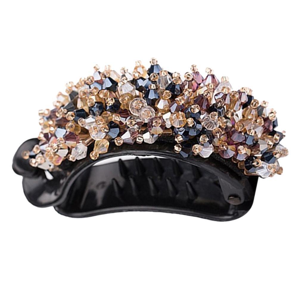 Femmes-Diamante-Cheveux-Barrette-Clip-Griffe-Ponytail-Holder-Cheveux-Accessoires miniature 7