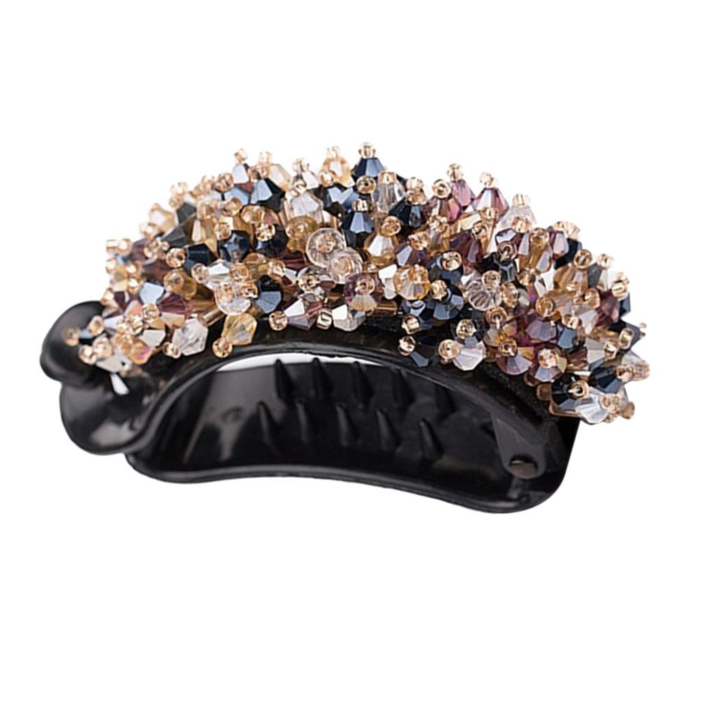 Femmes-Diamante-Cheveux-Barrette-Clip-Griffe-Ponytail-Holder-Cheveux-Accessoires miniature 6