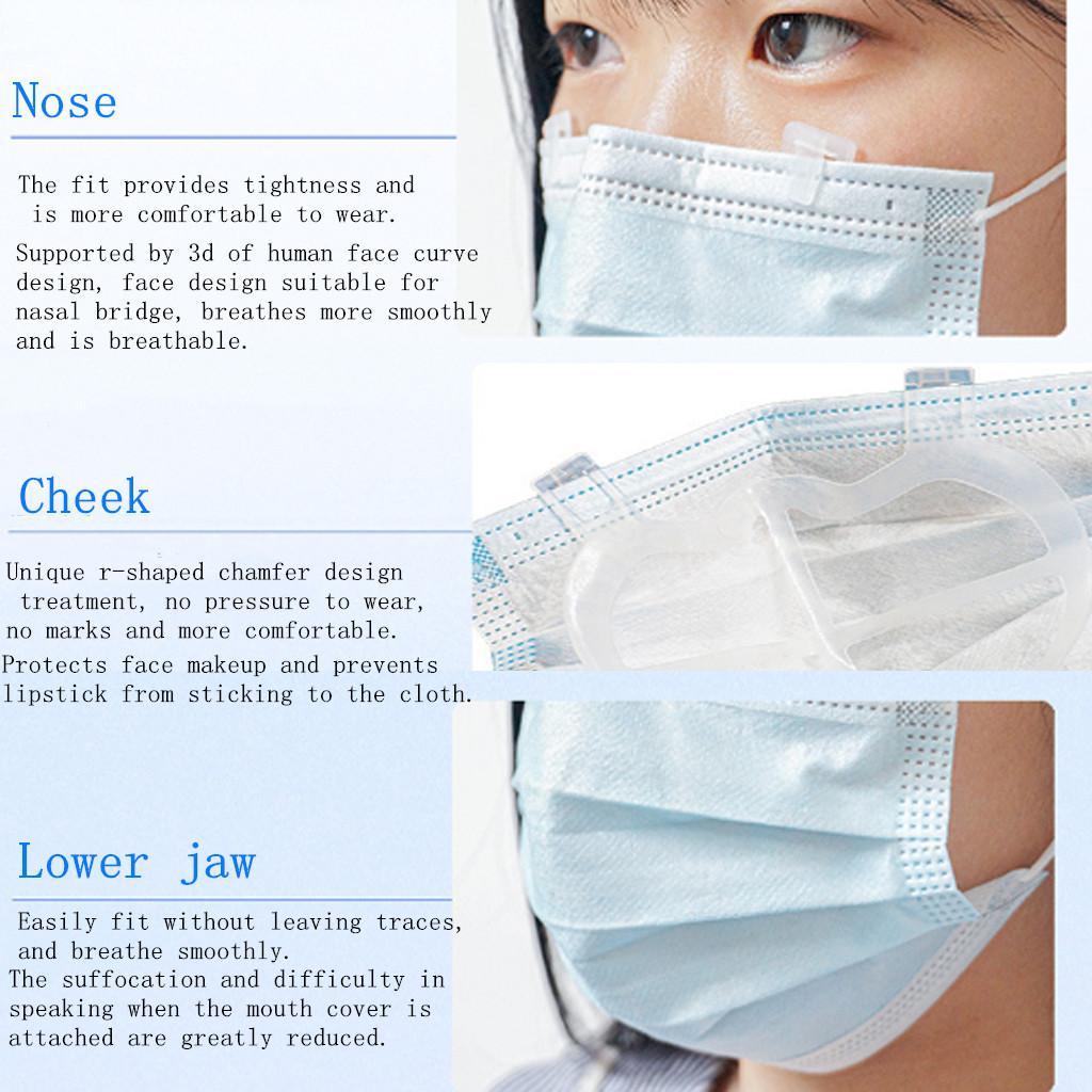 10 Pieces Face Mask Bracket Rack Makeup Keeper Anti-Fog Frame Accessories