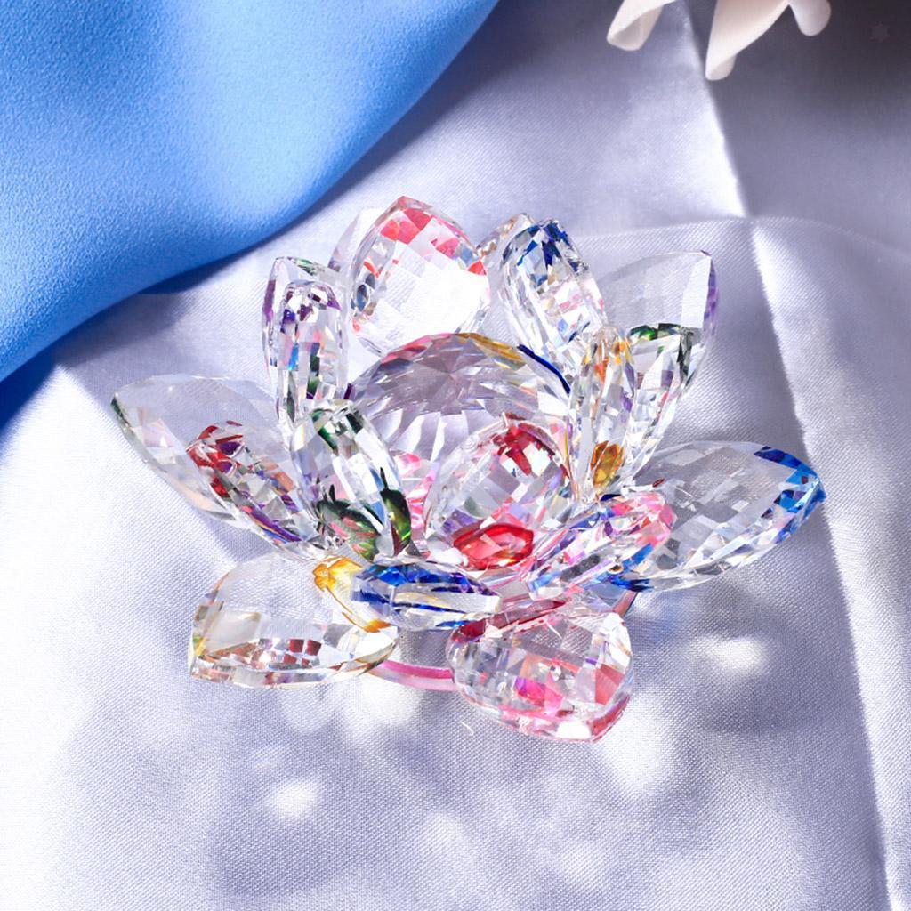 Ornameto-In-Cristallo-Stilo-Fiore-Loto-Feng-Shui-Arredamento-Interno miniatura 24