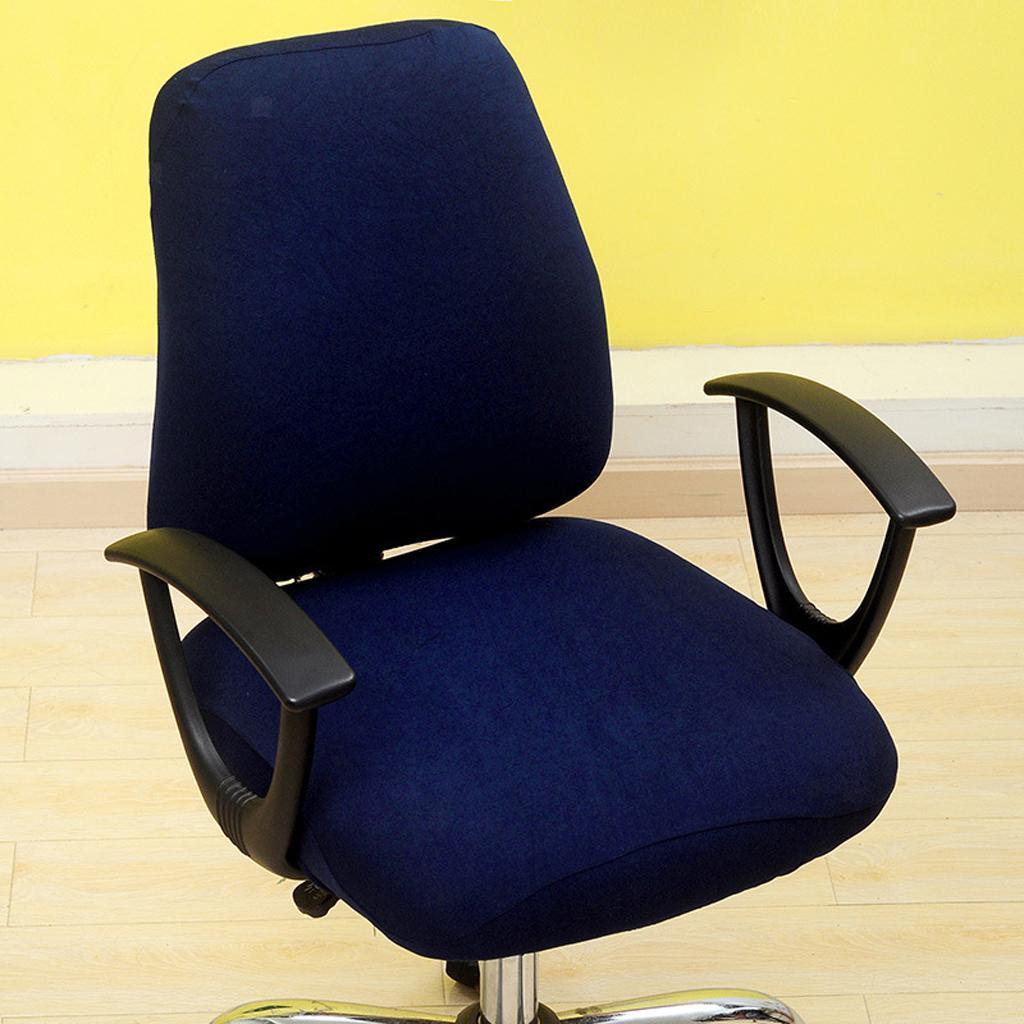 Housse-de-chaise-de-bureau-extensible-souple-Housse-de-chaise-d-039-ordinateur-de miniature 6