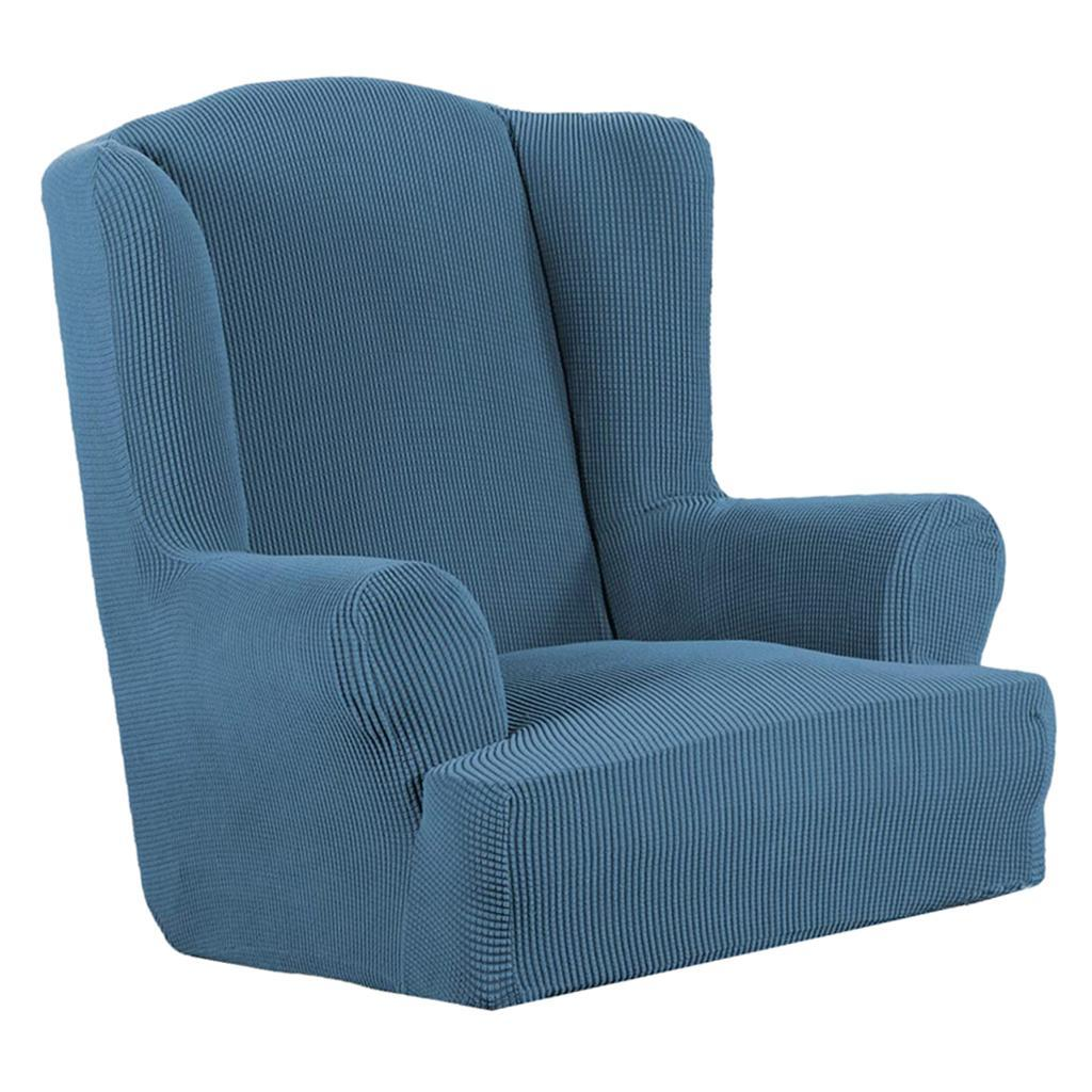 Stretchable Jacquard Wingback Armchair Cover Wing back ...