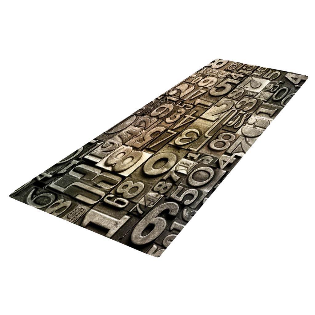 Digitale-Stampata-3D-Tappetino-Runner-Antiscivolo-Area-Rug-Carpet miniatura 11
