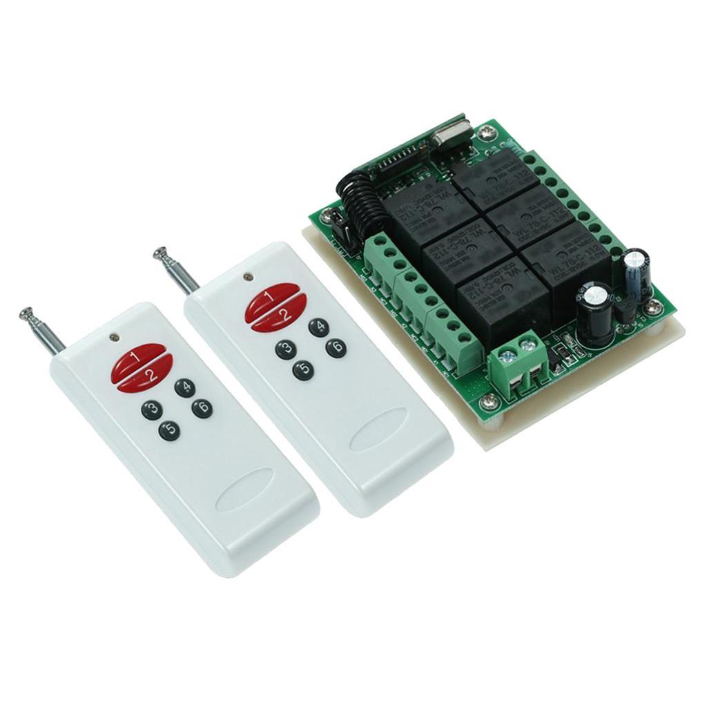 Télécommande Émetteur Récepteur on//off 12 V 12 V 10 A 1CH relais Wireless Wall Switch