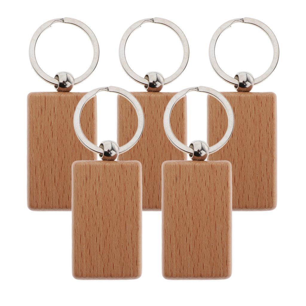 5Pcs-Plain-Blank-Wooden-Key-Chain-Key-Ring-Key-Tags-DIY-Findings-for-Wood-Crafts thumbnail 6