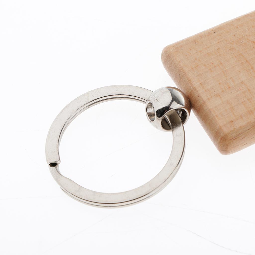 5Pcs-Plain-Blank-Wooden-Key-Chain-Key-Ring-Key-Tags-DIY-Findings-for-Wood-Crafts thumbnail 7