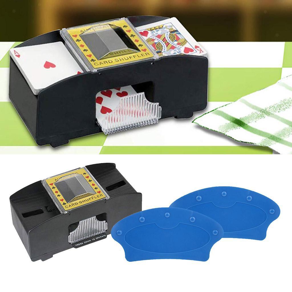 plastic pro automatic card shuffler poker shuffling