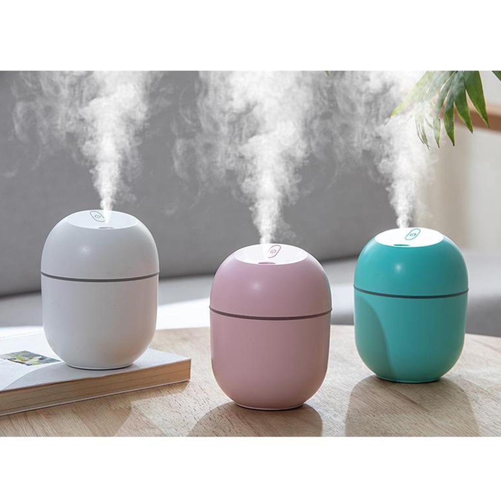 portable mini ultrasonic humidifier 220ml diffuser led