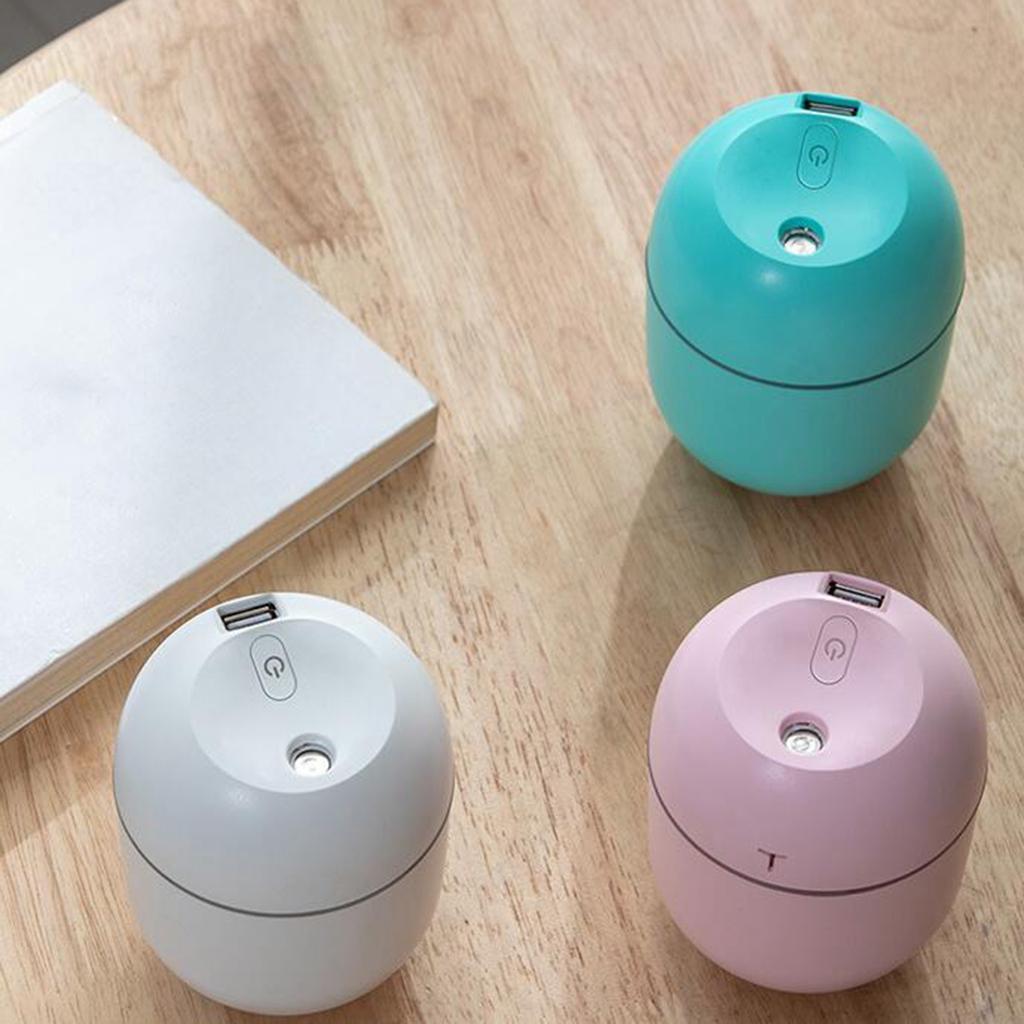 mini ultrasonic humidifier 220ml small diffuser led light