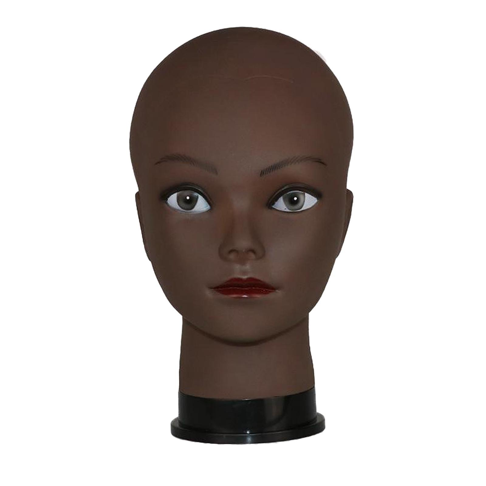 thumbnail 9 - Male-female bald mannequin head wigs hats glasses scarves jewelry