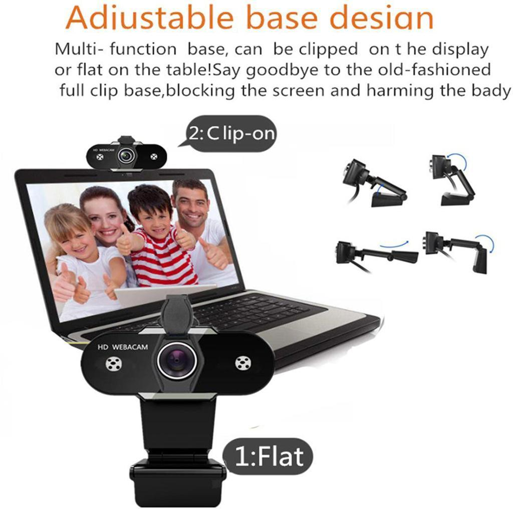 miniatura 25 - Webcam HD, webcam per PC Videocamera per computer mini USB Videocamera con